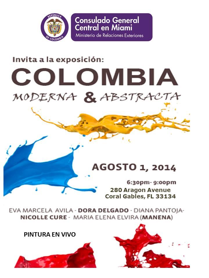 """Abstracta"""", exposición colectiva en el Consulado Colombia en Miami"""
