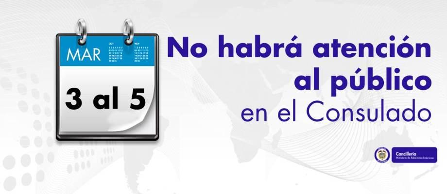 El Consulado de Sao Paulo informa que del 3 al 5 de marzo no habrá