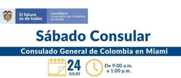 Consulado de Colombia en Miami realizará la jornada de Sábado Consular este 24 de julio de 2021