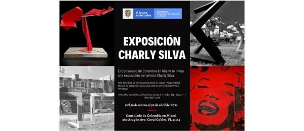 Del 30 de marzo al 30 de abril se realizará la exposición del artista colom-biano Charly Silva en el Consulado de Colombia