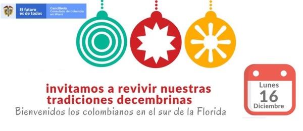 El Consulado de Colombia en Miami invita a revivir las tradiciones decembrinas el 16 de diciembre de 2019