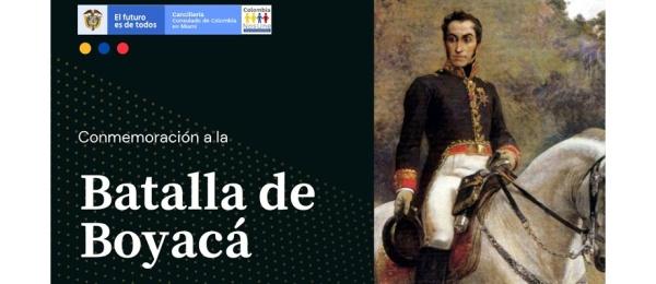 El Consulado de Colombia en Miami los invita a conmemorar el 7 de Agosto