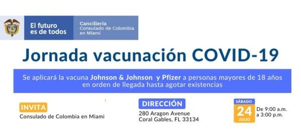 En la sede del Consulado de Colombia en Miami se realizará la  jornada