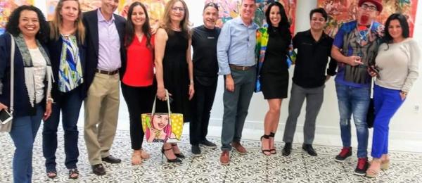 Noche de galería de enero en el Consulado de Colombia en Miami