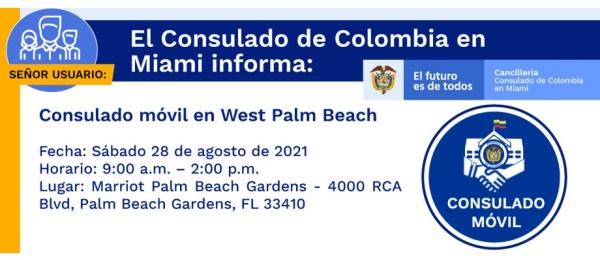 Jornada de Consulado Móvil en West Palm Beach el 28 de agosto
