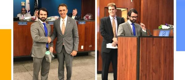 Cónsul de Colombia en Miami, Pedro Agustín Valencia Laserna, se reunió con el alcalde y los comisionados de la Ciudad de Fort Lauderdale